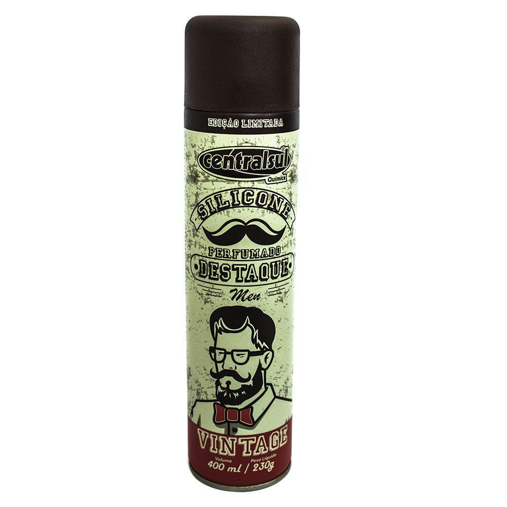 Silicone Spray Perfumado Vintage Men Brilho Seco 400ml  - AutoParts Online