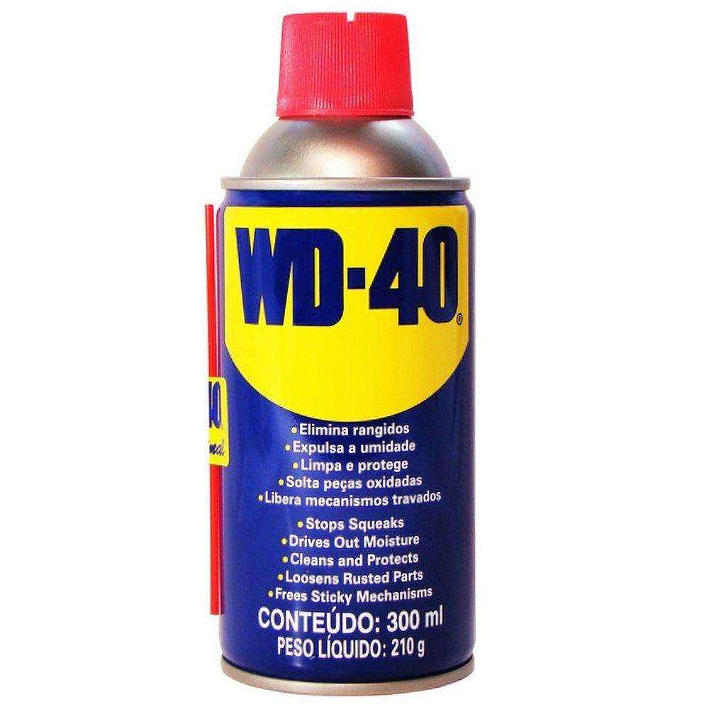 Spray Lubrificante WD 40 300ml (lubrifica, elimina umidade, protege superfícies metálicas, limpa sob a sujeira)  - AutoParts Online