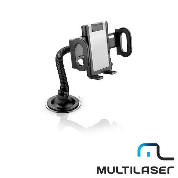 Suporte Universal Multilaser AC168 p/ GPS, Ipod, IPhone, PDA  - AutoParts Online