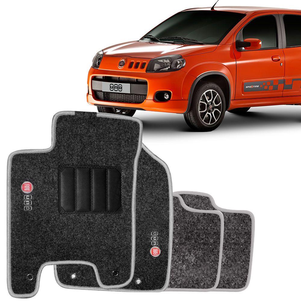 Tapete Automotivo Carpete Fiat Novo Uno 210 em diante 4 Peças Grafite  - AutoParts Online