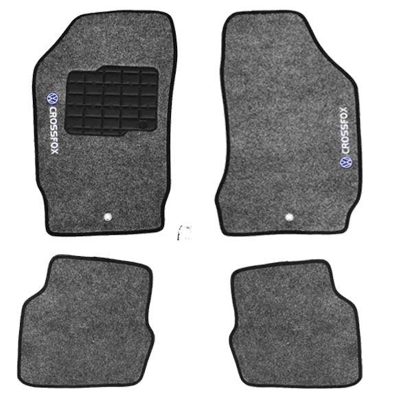 Jogo de Tapete Carpete Personalizado Crossfox 04 até o ano 09 Grafite ? 4 peças  - AutoParts Online