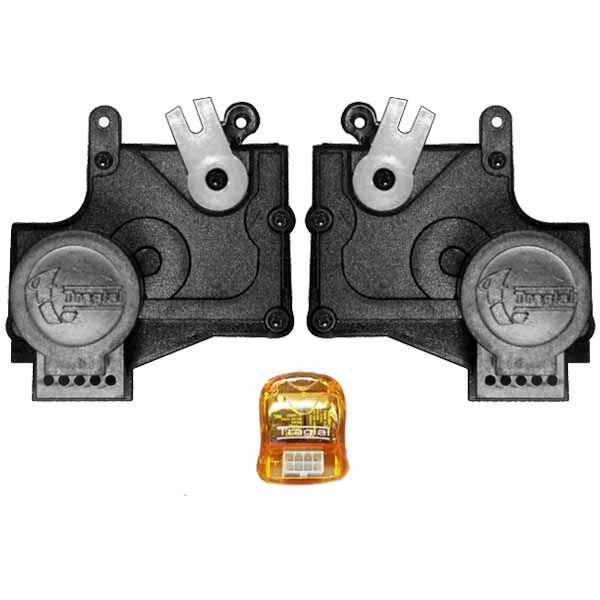 Trava Elétrica Específico p/ Fechadura Chevrolet, Fiat, Ford, Citroen - 2 portas - KIT  - AutoParts Online
