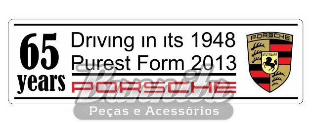 Adesivo modelo Porsche 65 years  - Bunnitu Peças e Acessórios