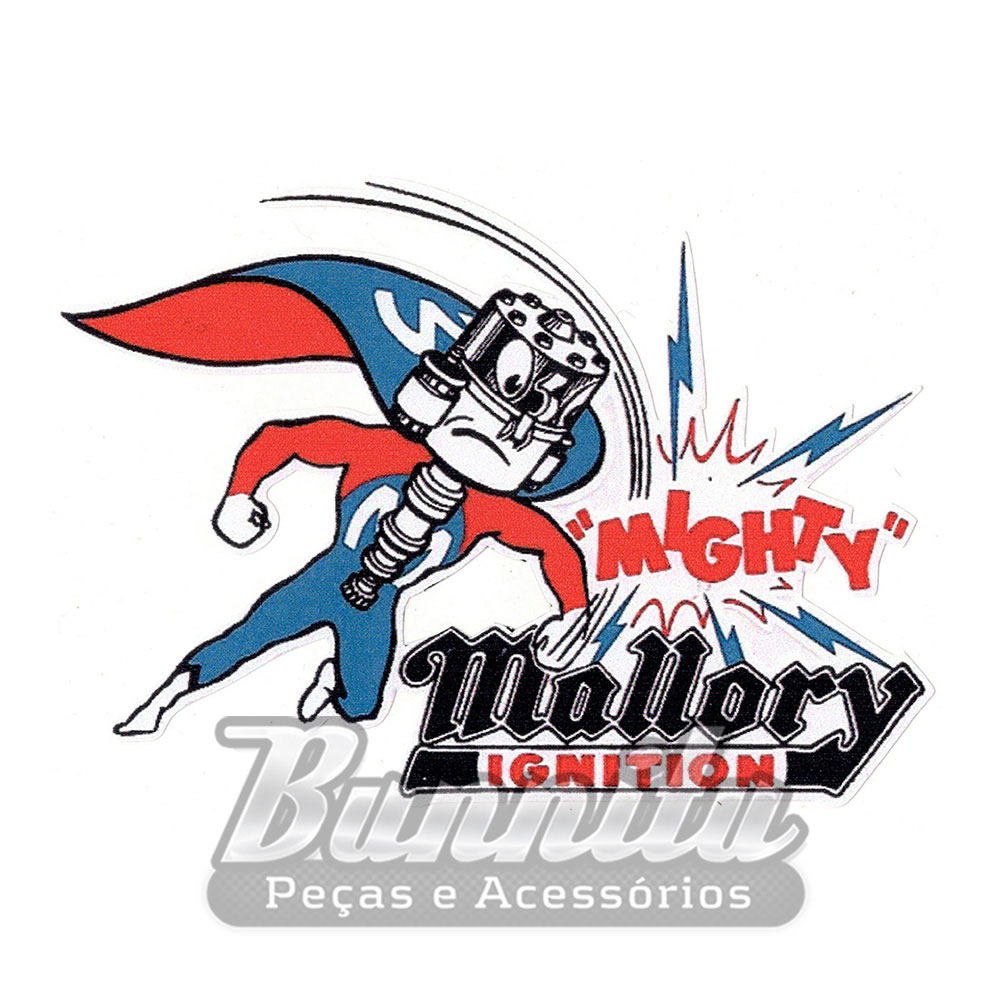 """Adesivo modelo - """"Mighty"""" Mallory Ignition  - Bunnitu Peças e Acessórios"""