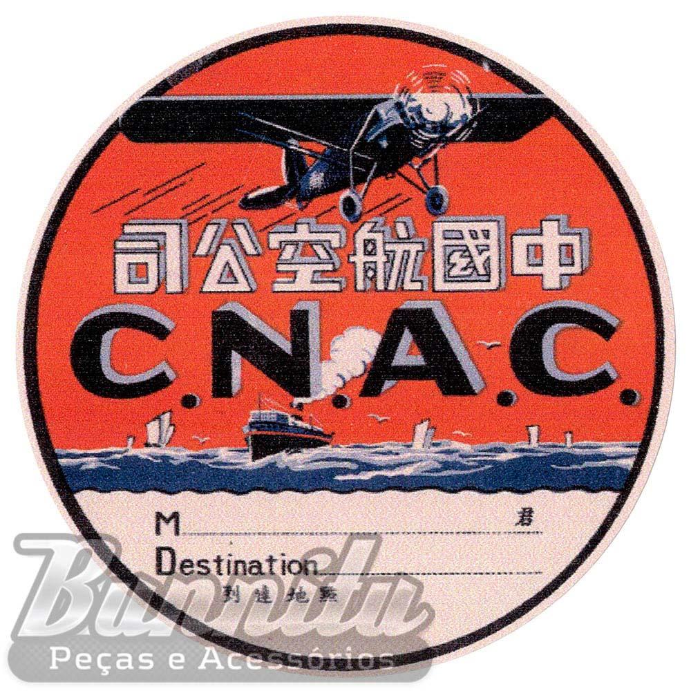 Adesivo modelo - C.N.A.C - Etiqueta para mala  - Bunnitu Peças e Acessórios