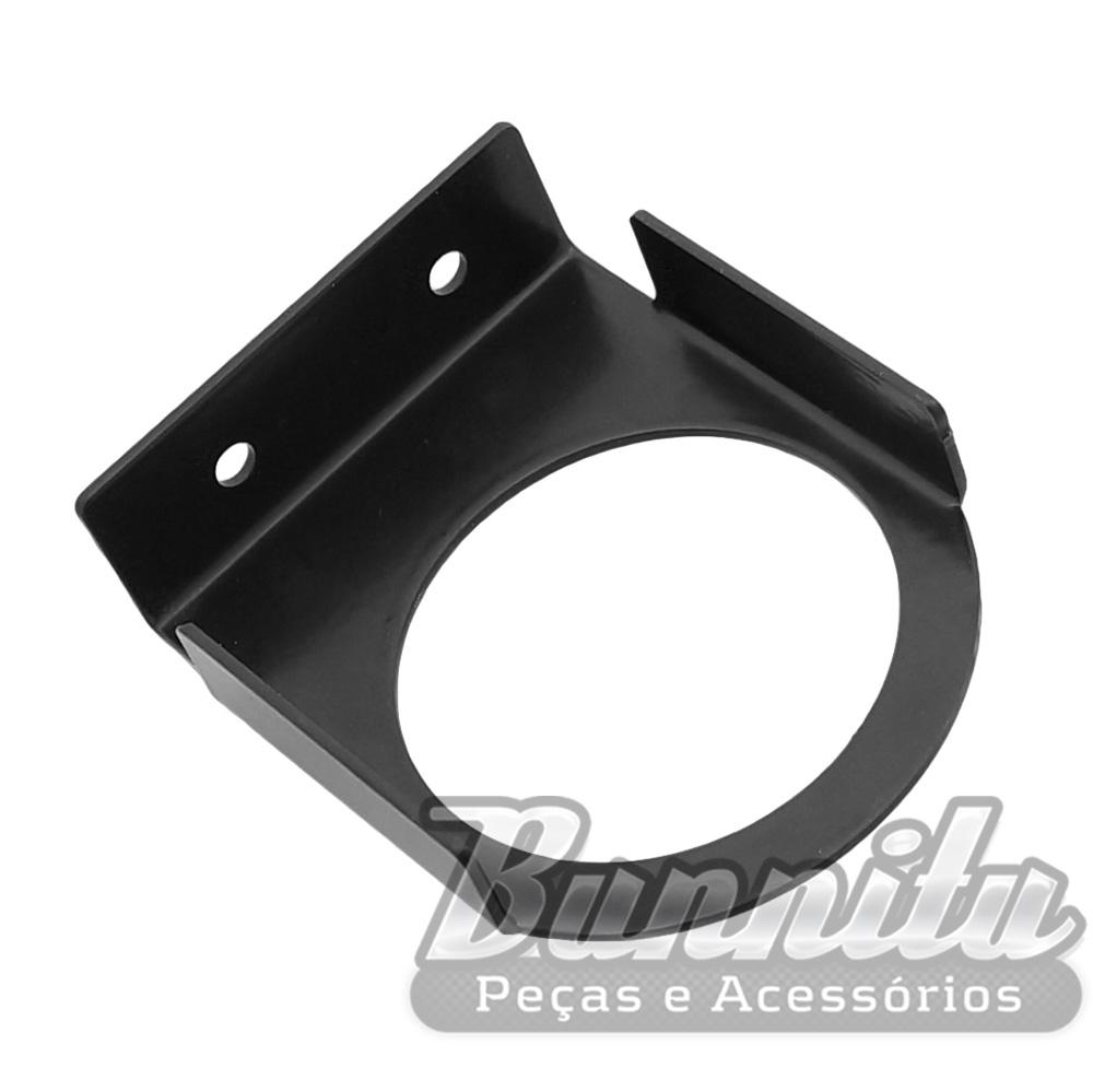 Painel suporte universal de instrumento 53mm em metal na cor preta  - Bunnitu Peças e Acessórios