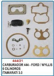 Kit de reparo do carburador DFV 444 6cc para Aero Willys Itamaraty  - Bunnitu Peças e Acessórios