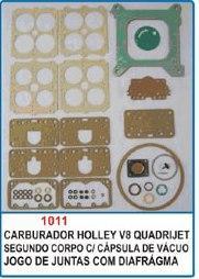 Kit de reparo do carburador Holley Quadrijet V8 - Com Cápsula de vácuo  - Bunnitu Peças e Acessórios