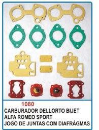 Kit de reparo do carburador Dellorto Bijet duplo para Alfa Romeu e DHLA  - Bunnitu Peças e Acessórios