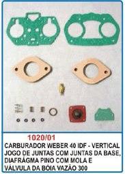 Kit de reparo do carburador Weber 40 IDF - Vertical  - Bunnitu Peças e Acessórios