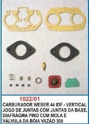 Kit de reparo do carburador Weber 44 IDF - Vertical  - Bunnitu Peças e Acessórios