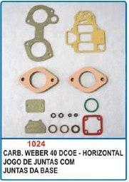Kit de reparo do carburador Weber 40 DCOE - Horizontal  - Bunnitu Peças e Acessórios