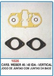Kit de reparo do carburador Weber 46/48 IDA - Vertical  - Bunnitu Peças e Acessórios