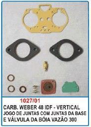 Kit de reparo do carburador Weber 48 IDF - Vertical  - Bunnitu Peças e Acessórios