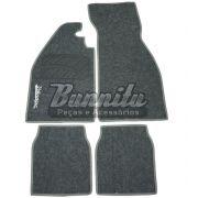 Tapete de carpete modelo 4 peças na cor cinza grafite para VW Fusca