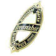 Emblema plaqueta para bicicleta modelo Brennabor