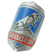 Emblema plaqueta para bicicleta modelo Peugeot