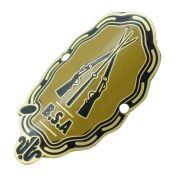 Emblema plaqueta para bicicleta modelo B.S.A