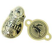 Emblema plaqueta para bicicleta modelo Azelle