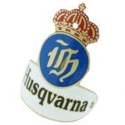 Emblema plaqueta para bicicleta modelo Husqvarna