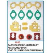 Kit de reparo do carburador Dellorto Bijet duplo para Alfa Romeu