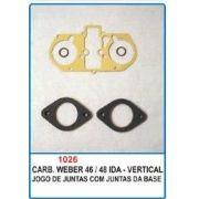 Kit de reparo do carburador Weber 46/48 IDA - Vertical