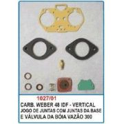 Kit de reparo do carburador Weber 48 IDF - Vertical