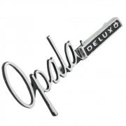 Emblema assinatura para painel do porta luvas do GM Opala Deluxo 1969 à 1972