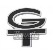 Emblema GT do  teto de vinil e grade na cor preta para Ford Corcel