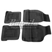 Tapete de borracha novo na cor preta para VW Passat - Jogo com 4 peças