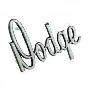 Emblema Dodge Manuscrito caput dianteiro com borda preta