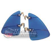 Defletor em Acrílico Azul para quebra vento VW