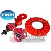 Kit de motor EMPI em acrílico com tampas de polias, distribuidor e cabos para linha VW Ar
