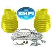 Coifa de cambio Empi em silicone na cor amarela para VW Fusca, Brasília e Variant