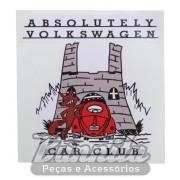 Adesivo modelo Absolutely Volkswagen Car Club