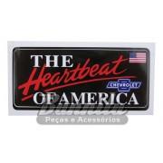 Adesivo para vidro modelo Chevrolet The Heartbeat of America