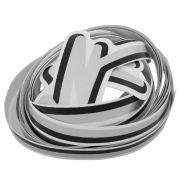 Adesivo filete da lateral na cor prata para VW Fusca 1993 à 1996