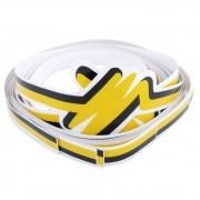 Adesivo filete da lateral cor amarela VW Fusca Itamar 1993 à 1996