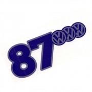 Adesivo interno de vidro modelo 1987 logo VW Kombi Gol Parati