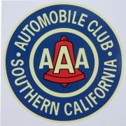 Adesivo modelo AAA - Automobile Club Southern California