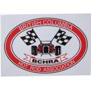 Adesivo modelo BCHRA British Columbia Hot Rod Association