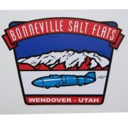 Adesivo modelo Bonneville Salt Flats  Wendover - Utah