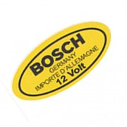 Adesivo Modelo Bosch Germany 12 Volts Bobina Ignição VW Fusca Kombi Porsche