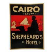 Adesivo modelo - Cairo Egypt - Shepheard´s Hotel