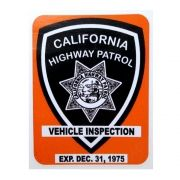 Adesivo modelo - California Highway Patrol Vehicle Inspection