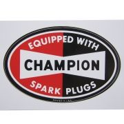 Adesivo modelo Champion Equipped With Spark Plugs