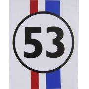 Adesivo modelo Fusca Herbie 53