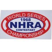 Adesivo modelo NHRA 1968 Contestant - World Series Championship