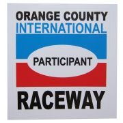 Adesivo modelo Participant Orange County International RaceWay