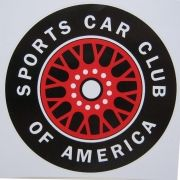 Adesivo modelo Sports Car Club Of America